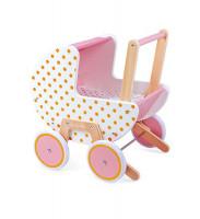 Dřevěný kočárek pro panenky - Candy Chic
