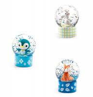 Mini sněhová koule - Zajíc, tučňák a liška