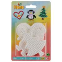 Hama Midi - podložky - srdce, tučňák, stromeček
