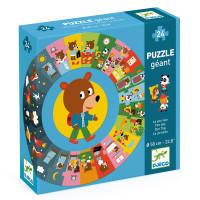 Didaktické puzzle - Medvídkův den - 24 ks