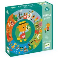 Didaktické puzzle - Medvídkův rok - 24 ks