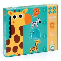Sada 4 puzzle - Žirafa a spol.