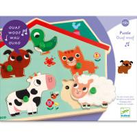 Vkladacie zvukové puzzle na doske - Farma