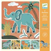 Kreslící šablony - Divoká zvířata