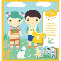 Samolepková súprava - Šatňa pre chlapca a dievča