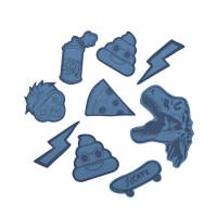 Reflexné samolepky StickyRicky coocazoo, modré