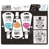 Kreativní sada Izink Diamond - lamy - 3 ks
