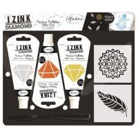 Kreativní sada Izink Diamond - peří - 3 ks