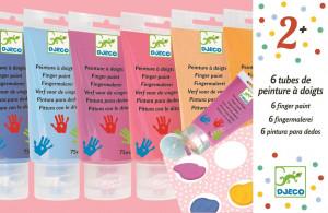Prstové barvy v tubě pro dívky - 6 ks sleva poškozený obal