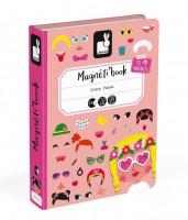 Magnetická kniha - Zábavné tváře - dívky sleva poškozený obal