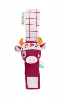 Lilliputiens - chrastící náramek -  kravička Rosalie