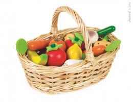 Zelenina a ovoce v košíku - 24 ks