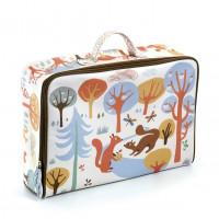 Dětský textilní kufr - veverka