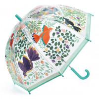 Detský dáždnik - kvety a vtáky