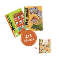 Balíček kartových hier Djeco - Pre chlapcov predškolákov