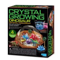 Dinosauří terárium s krystaly