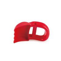 Ruční bagr, červený - hračka na písek