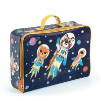 Dětský textilní kufr - vesmír
