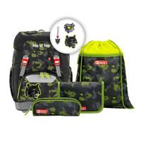Školní batoh Step by Step - GRADE set - Černý panter