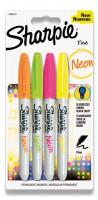 Permanentní popisovač Sharpie Neon sada 4 barev