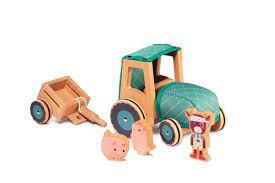 Lilliputiens - traktor a kravička Rosalie poškozený obal sleva