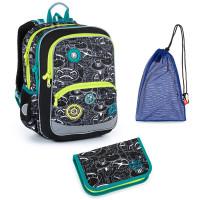 Set pre školáka Topgal BAZI 21014 B SET MEDIUM - školská taška, vrecko na prezuvky, školský peračník