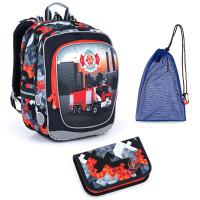 Set pre školáka Topgal ENDY 21013 B SET MEDIUM - školská taška, vrecko na prezuvky, školský peračník