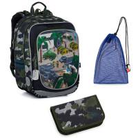 Set pre školáka Topgal ENDY 21016 B SET MEDIUM - školská taška, vrecko na prezuvky, školský peračník