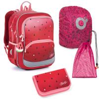 Velký školní set Topgal BAZI 21003 G - batoh + penál + pytlík na přezůvky + pláštěnka