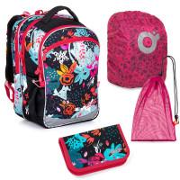 Sada pre školáčku Topgal COCO 21006 G SET LARGE - školská taška, vrecko na prezuvky, pláštenka na batoh, školský peračník