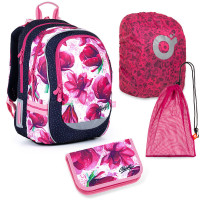 Sada pre školáčku Topgal CODA 21009_G SET LARGE - školská taška, vrecko na prezuvky, pláštenka na batoh, školský peračník