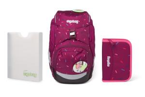 Školní set Ergobag prime Violet confetti - batoh + penál + desky
