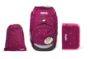 Školní set Ergobag prime Violet confetti - batoh + penál + sportovní pytel