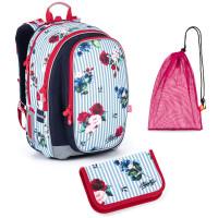 Sada pre školáčku Topgal MIRA 21008 G SET MEDIUM - školská taška, vrecko na prezuvky, školský peračník