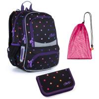 Sada pre školáčku Topgal NIKI G SET MEDIUM - školská taška, vrecko na prezuvky, školský peračník