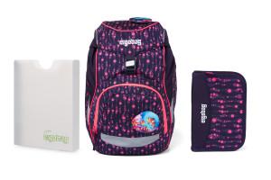 Školní set Ergobag prime Fluo mystic - batoh + penál + desky