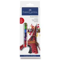 Akrylové barvy Faber-Castell - 12 barev