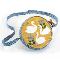 Kulatá kabelka - labuť
