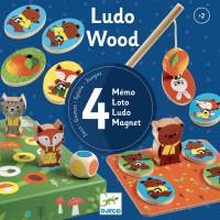 Ludo Wood – súprava 4 hier (v lese)