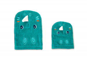 Lilliputiens - kúpacie rukavice - nosorožec Márius
