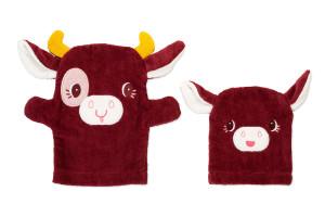Lilliputiens - kúpacie rukavice - kravička Rosalie