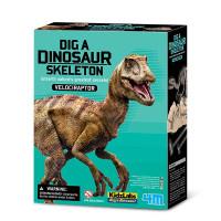 Vykopávka Velociraptora se skladacou kostrou