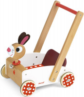 Dřevěné chodítko a vozík - zajíc