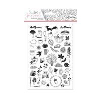 Diářová razítka Stampo BULLET JOURNAL, 50 ks - Podzim