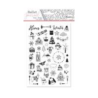 Diářová razítka Stampo BULLET JOURNAL, 50 ks - Zima