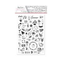 Diářová razítka Stampo BULLET JOURNAL, 52 ks - Léto