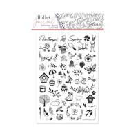 Diářová razítka Stampo BULLET JOURNAL, 53 ks - Jaro