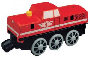 Maxim – dieselová elektrická lokomotíva červená