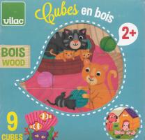 Vilac – drevené obrázkové kocky zvieratká