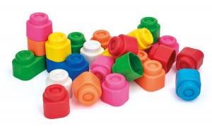 Clemmy 24 kostek  - základní barvy